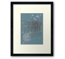 Breathing is too mainstream Framed Print