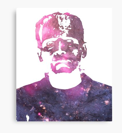 Frankenstein | Boris Karloff | Galaxy Horror Icons Canvas Print