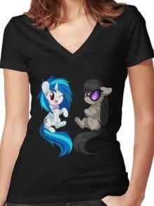 MLP - Vinyl & Octavia Women's Fitted V-Neck T-Shirt