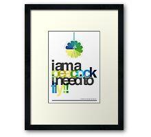 I'm a peacock, I need to fly Framed Print