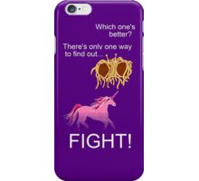 Invisible Pink Unicorn vs Flying Spaghetti Monster (dark) iPhone Case/Skin