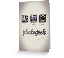 Photogeek Greeting Card