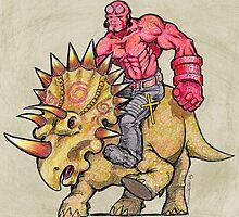 Hellboy Riding Hellboy by Sonya Craig