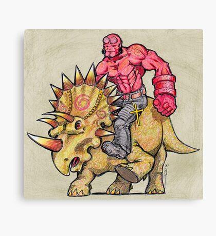 Hellboy Riding Hellboy Canvas Print