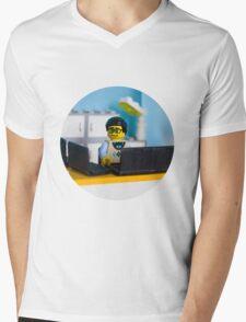 Lego geek Mens V-Neck T-Shirt