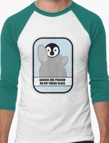 Danger Evil Penguin Men's Baseball ¾ T-Shirt