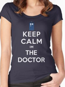 Keep calm im the doctor Women's Fitted Scoop T-Shirt