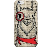Llama with Monocle iPhone Case/Skin