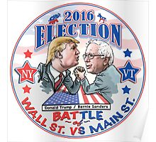 Bernie Sanders vs Donald Trump 2016 Poster