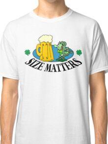 """Very Funny Irish """"Size Matters"""" Classic T-Shirt"""