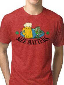 "Very Funny Irish ""Size Matters"" Tri-blend T-Shirt"