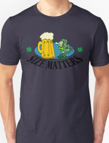 "Very Funny Irish ""Size Matters"" Unisex T-Shirt"