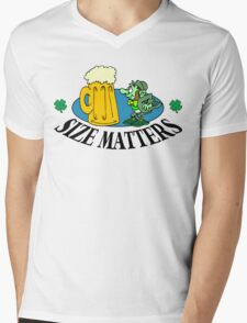 "Very Funny Irish ""Size Matters"" Mens V-Neck T-Shirt"