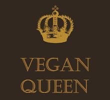 Vegan Queen Womens Fitted T-Shirt