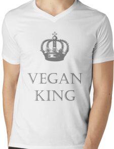 Vegan King Mens V-Neck T-Shirt