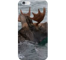 swimming moose iPhone Case/Skin