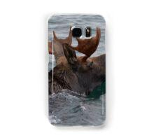 swimming moose Samsung Galaxy Case/Skin