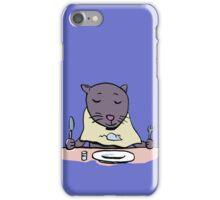 hungry cat iPhone Case/Skin