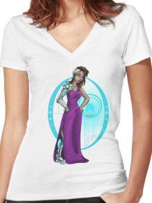 Cyborg Girl Women's Fitted V-Neck T-Shirt