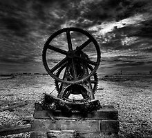 Old boat winch gear Dungeness by Dean Bedding