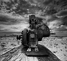 Old boat winch engine Dungeness by Dean Bedding