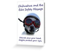 Chihuahua and the Bike Safety Message Tee and Sticker Greeting Card