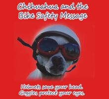 Chihuahua and the Bike Safety Message Tee and Sticker Kids Clothes