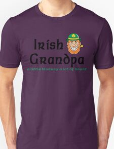 "Irish Grandpa "" Irish Grandpa - A Little Blarney A Lot of Heart"" Unisex T-Shirt"