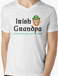 "Irish Grandpa "" Irish Grandpa - A Little Blarney A Lot of Heart"" Mens V-Neck T-Shirt"