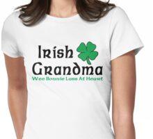 "Irish ""Irish Grandma - Wee Bonnie Lass At Heart"" Womens Fitted T-Shirt"