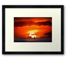 Sunset Paddler Framed Print