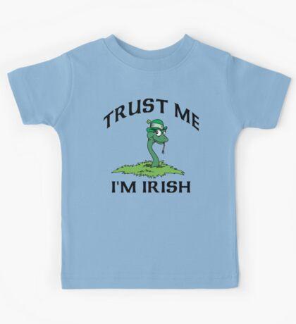 "Funny Irish ""Trust Me I'm Irish"" Kids Tee"