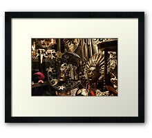 Venice, Italy - Sun and Moon Venetian Carnival Masks  Framed Print