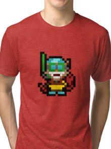 Pool Party Pixel Ziggs Tri-blend T-Shirt
