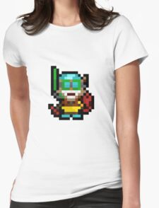 Pool Party Pixel Ziggs Womens Fitted T-Shirt