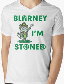 Irish Blarney I'm Stoned Mens V-Neck T-Shirt