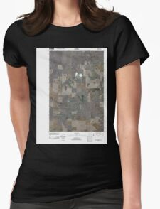 USGS Topo Map Washington State WA Saint Andrews 20110425 TM Womens Fitted T-Shirt
