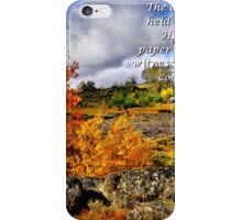 Card #443 Steens Fall Colors iPhone Case/Skin
