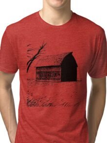 Farming Field Illustration Tri-blend T-Shirt