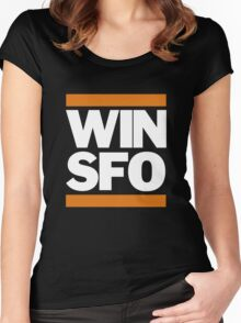 San Francisco Giants WIN SFO (adult size) Women's Fitted Scoop T-Shirt