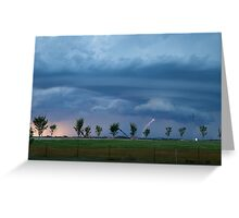 Supercell Rotating in a Tornado-like Fashion Greeting Card