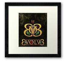 3volv3 Butterfly Framed Print