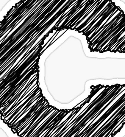Sketchy Letter Series - Letter C Sticker