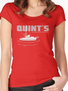 Quint's Chartered Fishing Women's Fitted Scoop T-Shirt