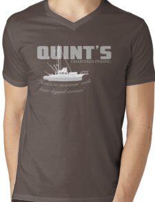 Quint's Chartered Fishing Mens V-Neck T-Shirt