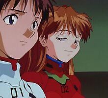 Neon Genesis Evangelion - Smug Asuka and Shinji - 2015 1080p Blu-Ray Cleaned Upscales by frc qt