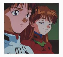 Neon Genesis Evangelion - Smug Asuka and Shinji - 2015 1080p Blu-Ray Cleaned Upscales Kids Clothes