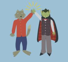 Vampire and Werewolf High Five Kids Clothes