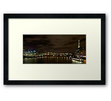 River Thames showing the new Shard Framed Print
