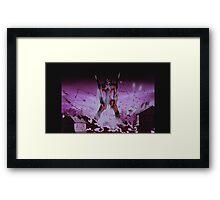 Neon Genesis Evangelion - Unit - 2015 1080p Blu-Ray Cleaned Upscales Framed Print